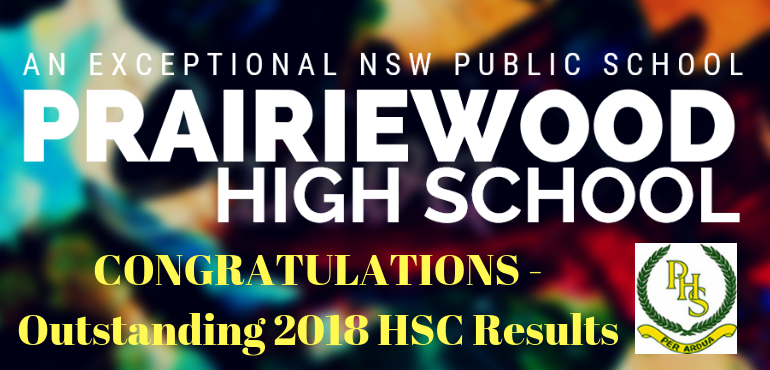 Congratulations to our HSC students! - Prairiewood High School